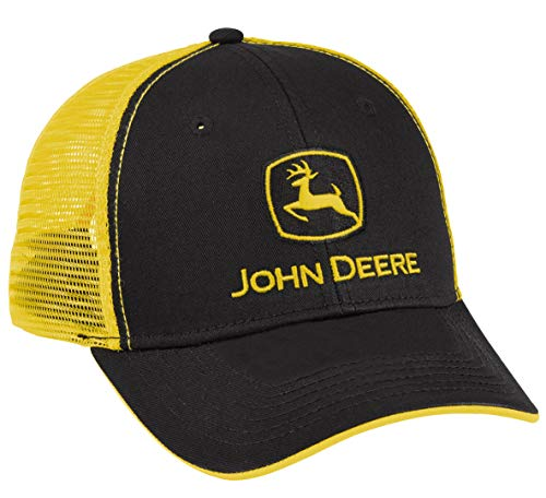 John Deere Authentic Licensed Black and Yellow Mesh Cap - LP69091