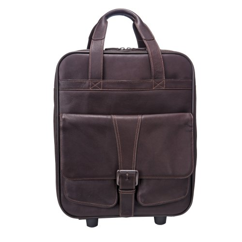 Jill-e Jack Series 144751 Large Rolling Leather Camera Bag - Brown