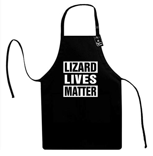 (Signature Depot (Lizard Lives Matter (Animal Rights) Unisex Adult Novelty Apron )