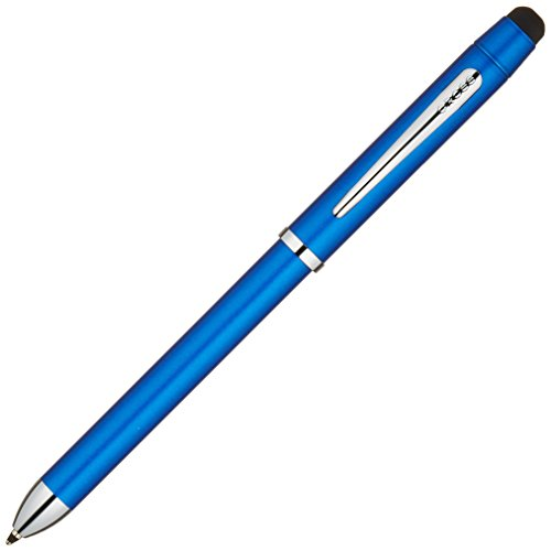 Cross Tech3+ Metallic Blue Multifunction Pen with Chrome Plated Appointments (AT0090-8) Blue Chrome Pen