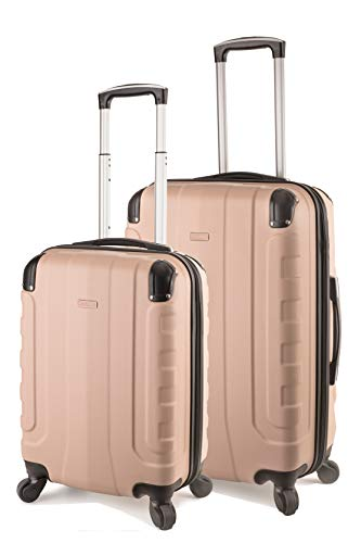 TravelCross Chicago Luggage Lightweight Spinner Set - Champagne, 2 Piece (20'' / ()