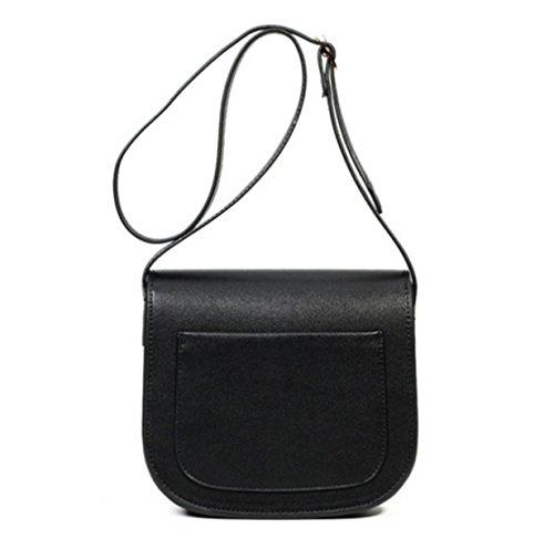 Corpo Regolabile Del Borsa Donne Borse Black Tracolla Croce Messaggio A Bag Con Piccole Cellulare Cinghia Sacchetto Cuoio Mini 1w4SqH