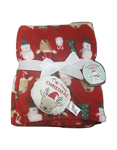 Baby Gear My First Reindeer Ornament and Christmas Blanket Set