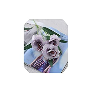 V-K-YA 3 Heads Orchid Short Branch Silk Artificial Flowers for Home Table Wedding Decoration,E 27