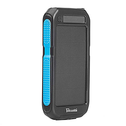 LHSJ03 Cargador de batería solar para teléfonos móviles, Choosebuy 10000 mAh, salida doble USB, batería portátil para...