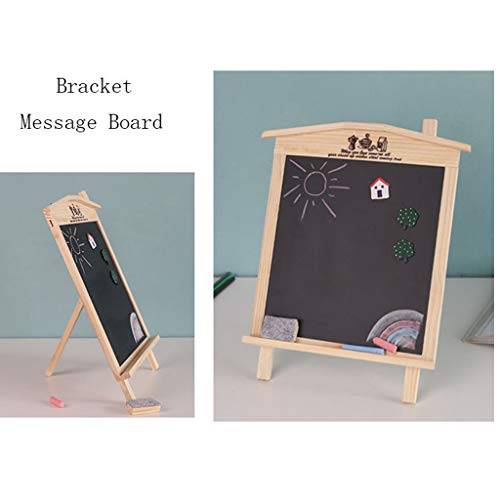 Eoeth Black Board, Magnetic Kindergarten Children's Teaching Mini Message Board Wooden Message Hanging Board Blackboard Table Top Display(Shipped by US) Free Post