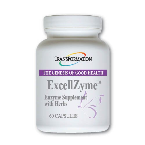 Transformation Enzymes ExcellZyme, 60 Capsules - #1 Practitioner Recommended - Supports Mental and Physical Energy, and Assist The Body in Neutralizing Free Radicals,