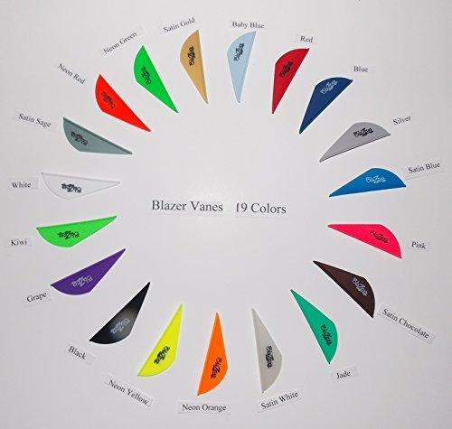 Bohning Blazer Vanes w/Logo 19 Colors Mix/Match Pkg/100 Blazer Vanes