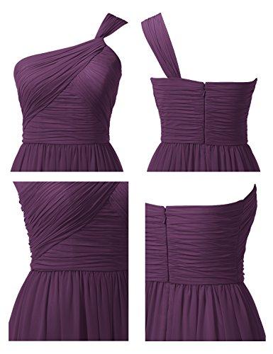 Prom Dress Ball Gown Party A Grape Gown Chiffon Asymmetric Alicepub Bridesmaid Line Long qTxf6Avw