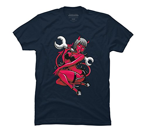 Devil-Pin-Up-Girl-with-Big-Wrench-Mens-Graphic-T-Shirt-Design-By-Humans