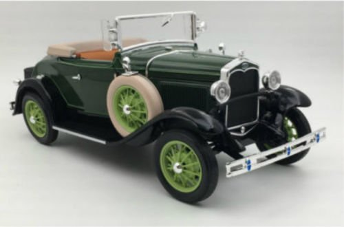 - Sunstar NEN 1:18 Ford Classic Collectible - Green 1931 Ford Model A Roadster Diecast Model Car