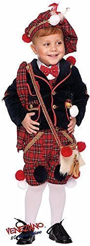 Italian Made Deluxe 7 Piece Baby Toddler Boys Scottish Bagpipe Player Carnival Around the World Book Day Week Halloween Fancy Dress Costume Outfit 0-3 years (3 years) -