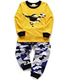 Tecrok Little Boys Cotton Pajama Set Long Sleeves Dinosaur Cartoon Pjs Sleepwears 6T