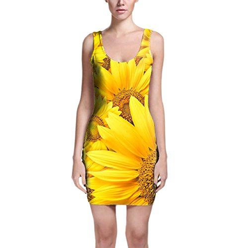 Queen of Cases - Robe - Moulante - Sans Manche - Femme jaune jaune taille unique