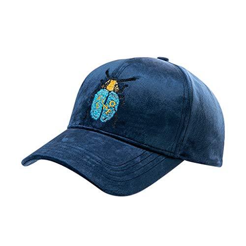 Accesorios Y Femenino De Casual Sombrero Decorado Deportivo Gorras Gorra Béisbol Salvaje Bordado Moda Delicado Sombreros Terciopelo Gorro Blue qXdat