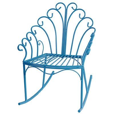 Wire Child's Rocking Chair Blue