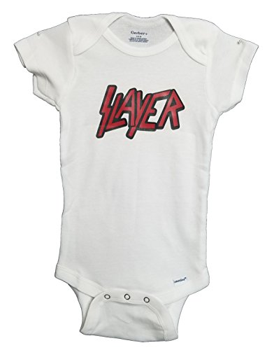 Onesie Slayer (Slayer Thrash Metal Rock & Roll Onesie Pajamas Bodysuit Baby Clothes by Mari Kyrios Creations (0 to 3 months))