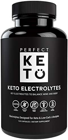 Perfect Keto Electrolyte Pills – Supports Hydration and Recovery Supplements for Low Carb or Keto-Friendly Diet – Essential Vitamins, Minerals, Sodium, Potassium, Magnesium – 120 Capsules