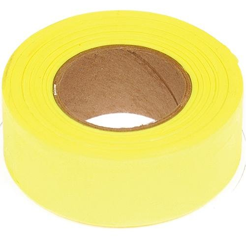 Flagging Tape, 1-3/16 Inches Wide x 150 Foot Roll (Fluorescent Yellow)