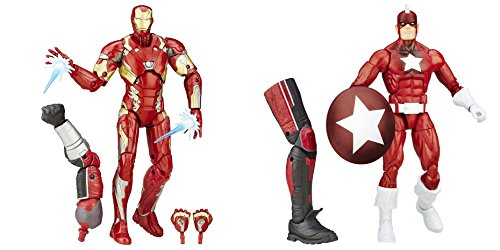 Super Hero Iron Man Mark 46 Figure vs Legends Series Red Guardian 6-Inch Hero Series Action Figures Toys, 2 Pack