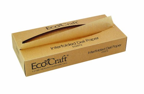Bagcraft Papercon 016015 EcoCraft Interfolded Dry Wax Deli Paper, 10-3/4'' Length x 15'' Width, NK15 Natural (12 Packs of 500) by Bagcraft Papercon