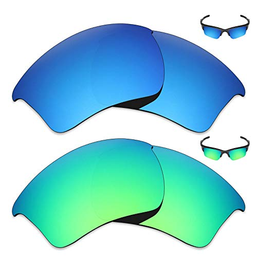 Mryok 2 Pair Polarized Replacement Lenses for Oakley Half Jacket 2.0 XL Sunglass - -