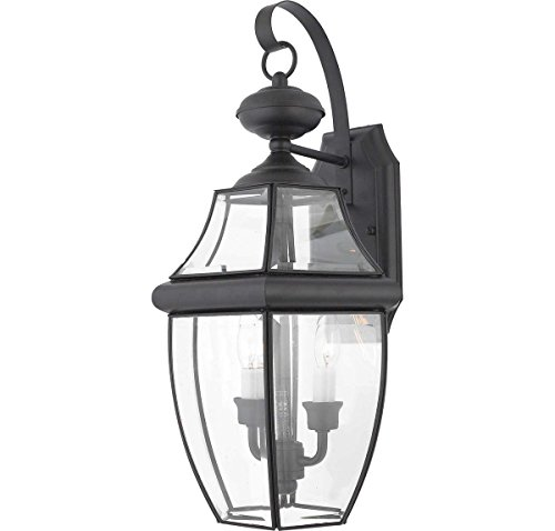 Quoizel Ny8317K Newbury 2 Light Outdoor Wall Lantern Mystic Black