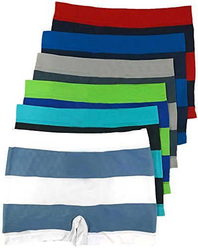 Cheap ToBeInStyle Men Pack of 6 Seamless Boxer Briefs - Jr Thick Stripes - One Size hot sale