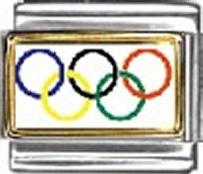 Olympic Photo Flag Italian Charm Bracelet Jewelry - Charm Photo Italian New 9mm
