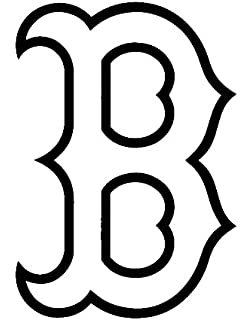 MLB Baseball Boston Red Sox White 6 Inch Die Cut Vinyl Decal