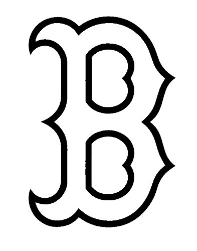 MLB Baseball Boston Red Sox, White, 6 Inch, Die Cut Vinyl Decal, For Windows, Cars, Trucks, Toolbox, Laptops, Macbook-virtually Any Hard Smooth Surface