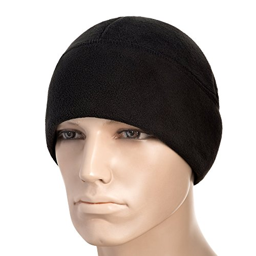 M-Tac Windproof Fleece 380 Mesh Tactical Hat Watch Cap Skull Beanie (Black, Small) - Patrol Watch Cap