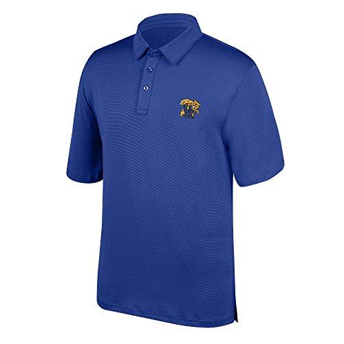 J America NCAA Men's Kentucky Wildcats Yarn Dye Striped Polo Shirt, Large, Royal (Kentucky Shirt Striped)
