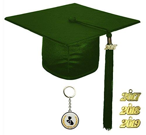 [해외]FIT4GRAD 반짝이 디럭스 졸업 캡 술 현수막 세트 2017 2018 2019, 녹색 숲/FIT4GRAD Shiny Deluxe Graduation Cap Tassel Signet Set 2017 2018 2019, forest green