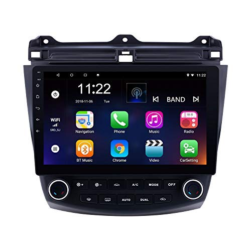 10.1 inch Android 8.1 GPS Navigation for Honda Accord 7 2003-2007 Touchscreen Bluetooth Radio Support OBD2 SWC Rearview Camera ()