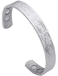 Lemegeton Tree of Life Irish Symbol Bracelet Cuff Simple Silver Armband for Unisex