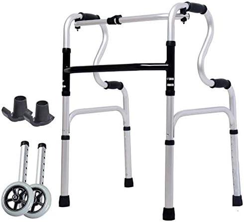 モビリティ機器軽量歩行器モビリティウォーカー限定モビリティエイド高さ調節可能ハンドル老人ショッピングカートトロリー