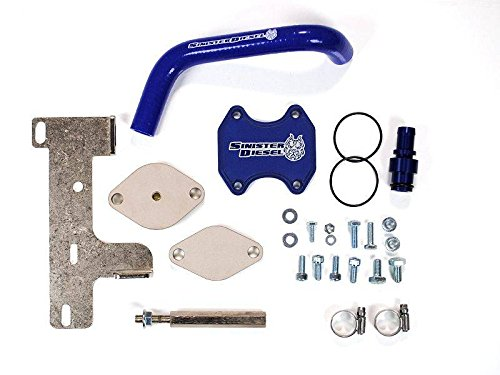 Sinister Diesel EGR Cooler Kit for Dodge Cummins 2010-2016 6.7L (Best Egr Delete Kit For 6.7 Cummins)