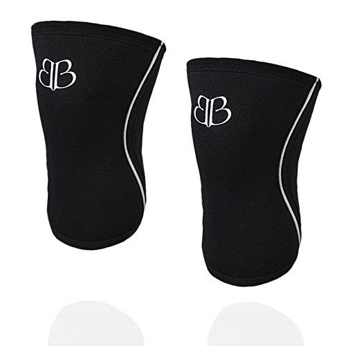 Knieschützer schwarz Lifter Banbroken Knie Ärmel 5 mm - Stabilität für die Knie für Crossfit, Gymnastik, Fitness, Gewichtheben, Running. Für Frauen und Männer (2 Einheiten)
