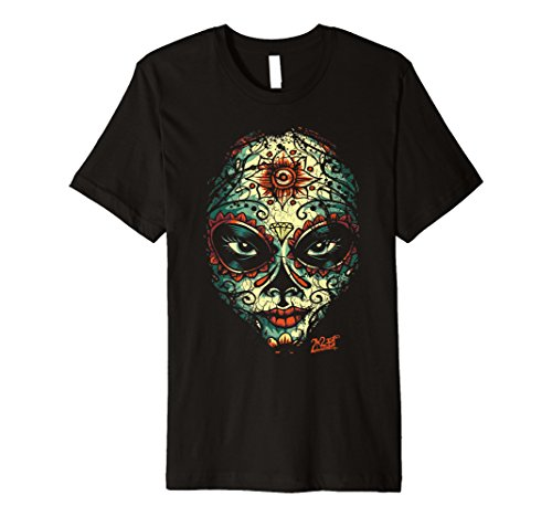 Motorcycle Face Graphic Mask (Dead Mask Tattoo Face T-Shirt)