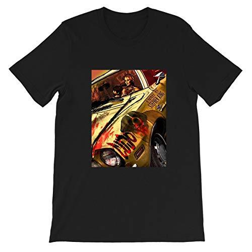 Cujo Stephen King 1983 American Horror Film Hollywood Cinema Movie Graphic Gift for Men Women Girls Unisex T-Shirt (Black-2XL)
