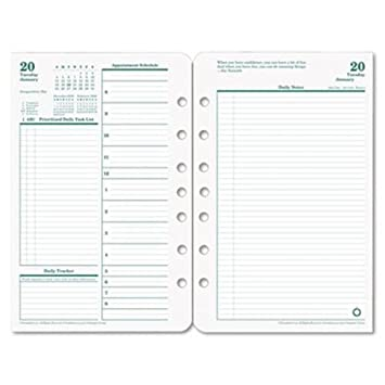 Amazon.Com : Franklin Covey Original Dated Daily Planner Refill