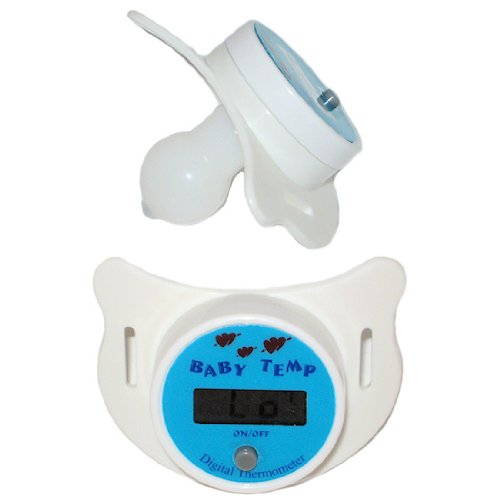 Good Health FX Deluxe Digital Thermometer Dummy Pacifier With LCD Display Audible Beep And Long Life Battery Included CE Certified 100% Guranteed Baby Temp