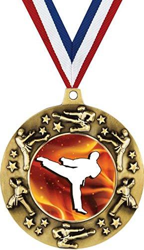 Gold Medal Arts Martial - Crown Awards Gold Karate Medal - 2 1/4