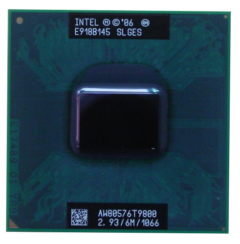 400 Mhz Core Clock - Intel Core 2 Duo T9800 SLGES 2.93GHz 6MB Dual-core Mobile CPU Processor Socket P 478-pin