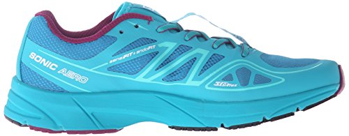 Salomon L37953900, Zapatillas de Trail Running para Mujer Azul (Fog Blue /     Teal Blue F /     Mystic Purple)