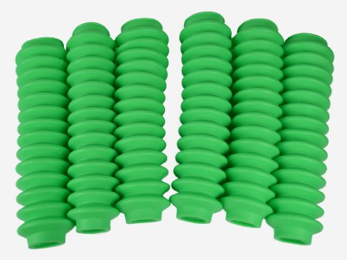 6 Pack Fluorescent or Lime Green Poly-vinyl Shock Boots for most Aftermarket Shocks fits 1955-1986 Jeep CJ CJ5 CJ6 CJ7 All Models