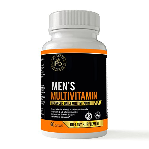 Men's Daily Multivitamin Supplement - Vitamins & Mineral Blend to Support Great Health, Contains Natural Energizers From Herbs And Berries, Saw Palmetto, Zinc, Selenium,Multivitamins for Men