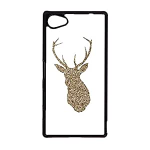 Sony Xperia Z5 Compact Mobile Shell Fresh And Bright 3D Phone Case Snap on Sony Xperia Z5 Compact Golden Deer Head Pattern Cover