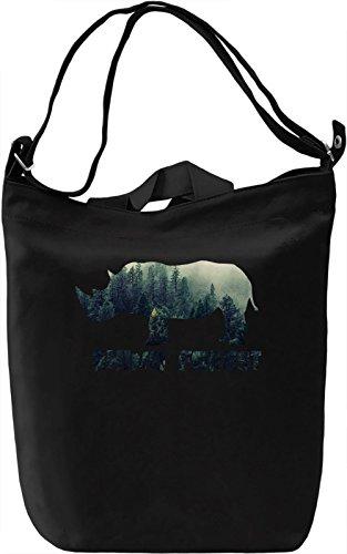 Rhino forest Borsa Giornaliera Canvas Canvas Day Bag  100% Premium Cotton Canvas  DTG Printing 